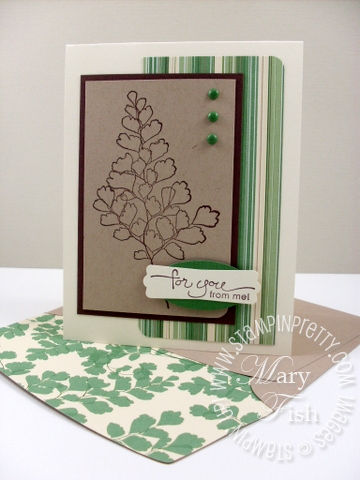 Stampin up growing green pals paper arts masculine card