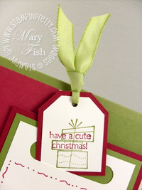 Stampin up a cute christmas tag punch present