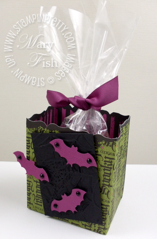 Stampin up fancy favor box bat punch
