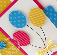 Stampin up pals paper arts balloon card