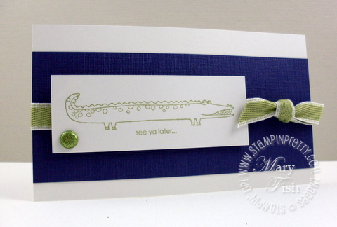 Stampin up long fellows alligator