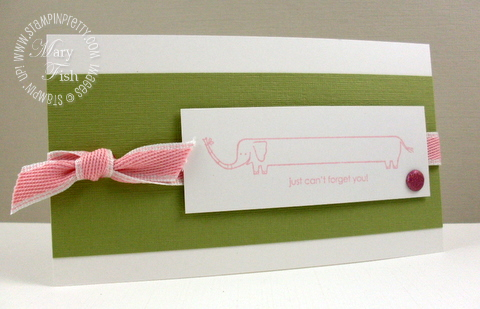 Stampin up long fellows elephant
