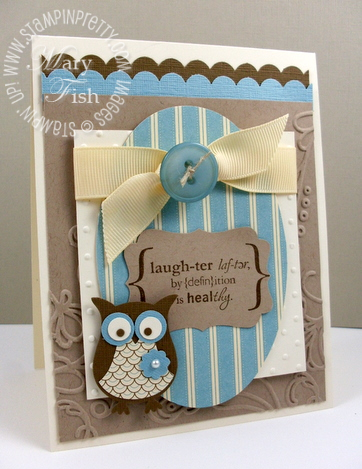 Stampin up mojo monday owl punch