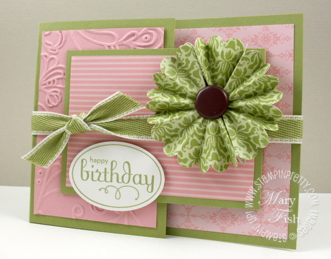 Stampin up perfect punches joyfold card
