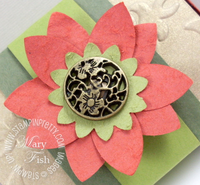 Stampin up pals paper arts suede 5 petal flower