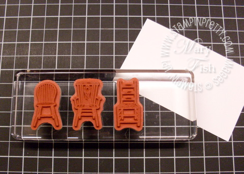 Stampin up have a seat clear mount stamps on block