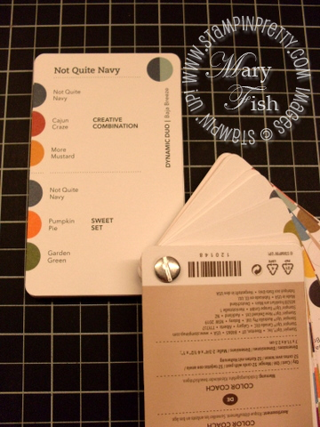 Stampin up color coach