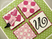 Stampin up itty bitty shapes punch pack broadsheet alphabet