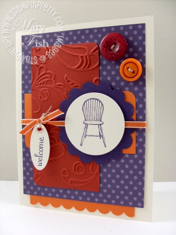 Stampin up mojo monday have a seat