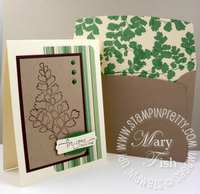 Stampin up growing green crumb cake envelope