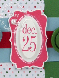 Stampin up tags til christmas decorative label punch