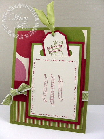 Stampin up jolly holiday designer paper a cute christmas