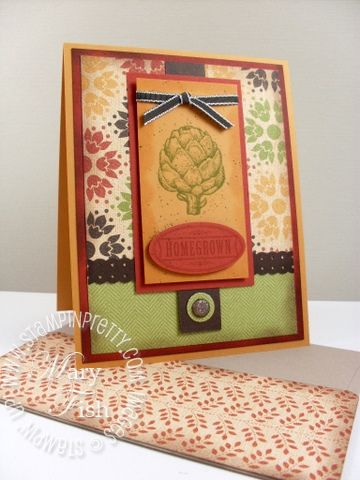 Stampin up mojo monday homegrown artichoke stamps
