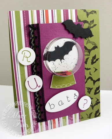 Stampin up sweet snowglobe halloween card