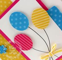 Stampin up pals paper arts balloon card