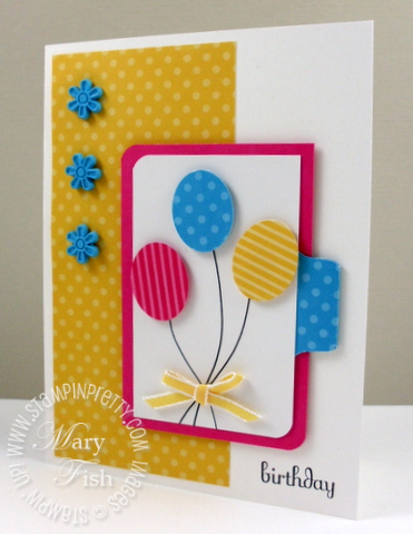 Stampin up oval punch pals paper arts birthday card