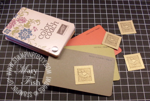 Stampin up color coach stampin pretty