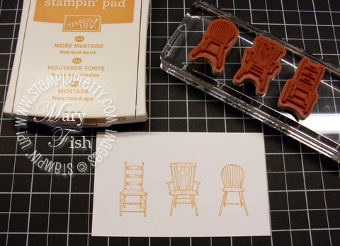 Stampin up have a seat clear mount stamp