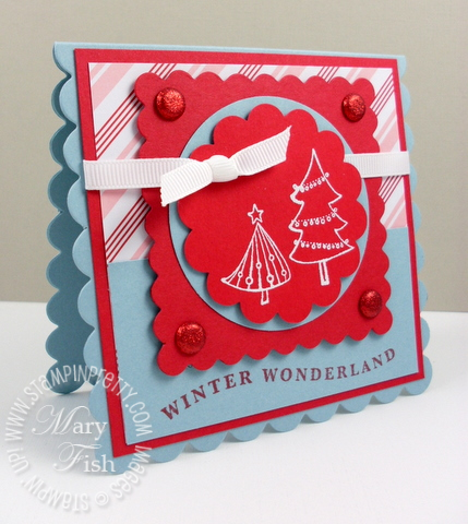 Stampin up a cute christmas mojo monday square