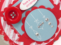 Stampin up a cute christmas basic jewels rhinestones