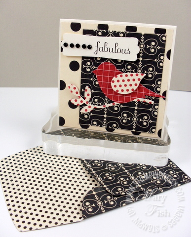 Stampin up fabulous phrases bird punch love letter