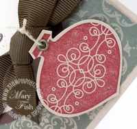 Stampin up tags til christmas ornament punch