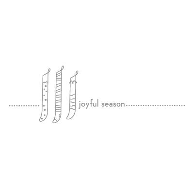 Joyful season letterpress stampin pretty