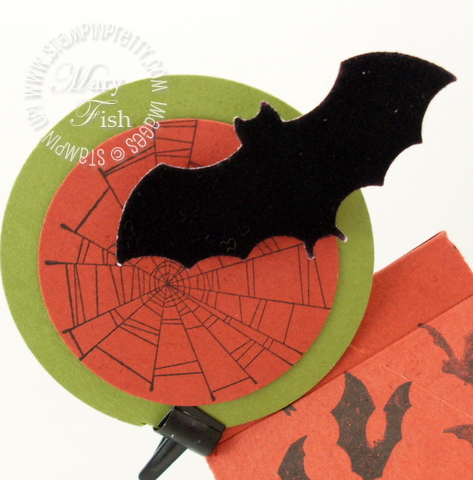 Stampin up bitty bat punch wicked cool halloween