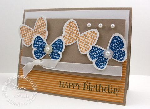 Stampin up butterfly prints punch