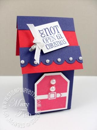 Stampin up tags til christmas mini milk carton bigz l die