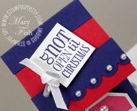 Stampin up tags til christmas mini milk carton roof