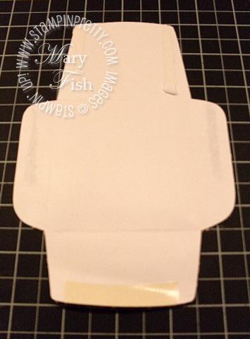 Stampin up mini square envelope template