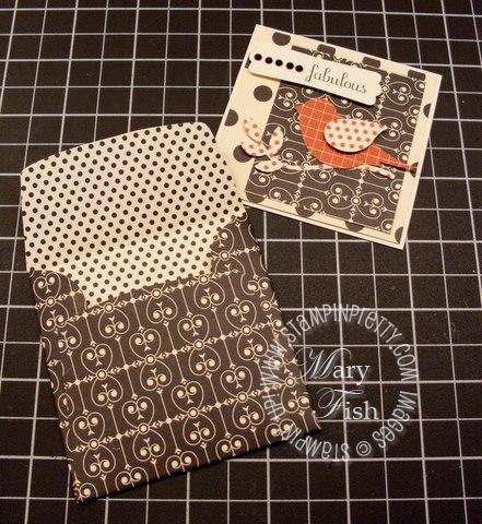 Stampin up bird punch love letter designer paper