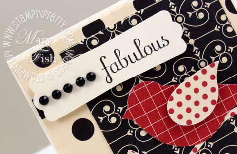 Stampin up fabulous phrases designer jewels black
