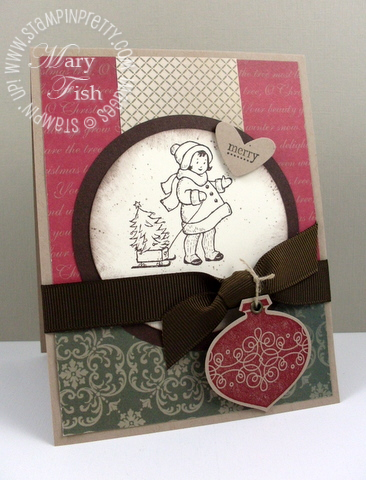 Stampin up mojo monday greeting card kids