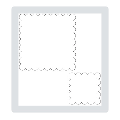 Scallop squares duo bigz die stampin pretty