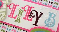 Stampin up broadsheet alphabet close up
