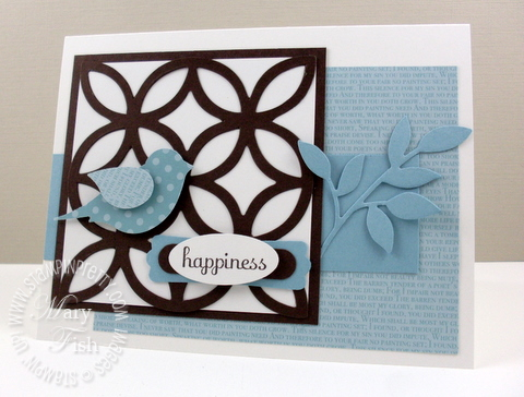 Stampin up splitcoast stampers SC297 bird punch
