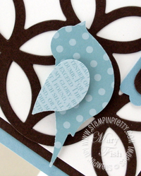 Stampin up two step bird punch