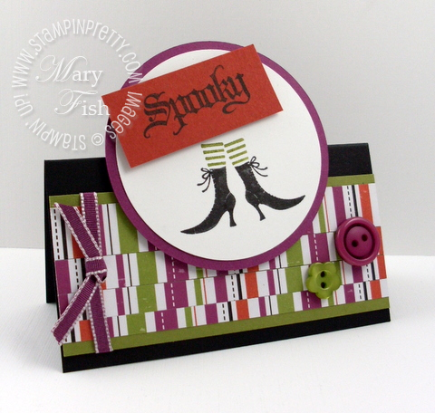 Stampin up wicked cool halloween card