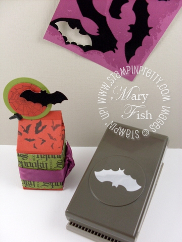Stampin up bitty bat punch halloween