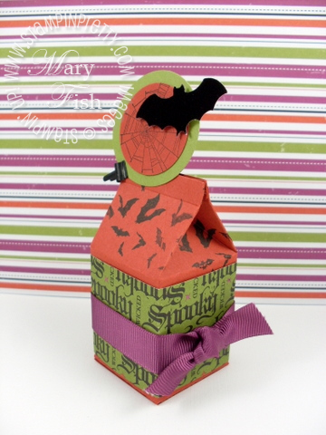 Stampin up mini milk carton halloween