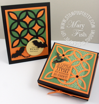 Stampin up halloween card pizza box wicked cool