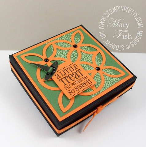 Stampin up halloween pizza box lattice die
