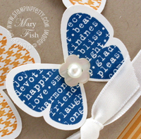 Stampin up butterfly prints punch close up