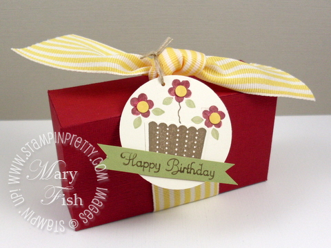 Stampin up cupcake big shot box