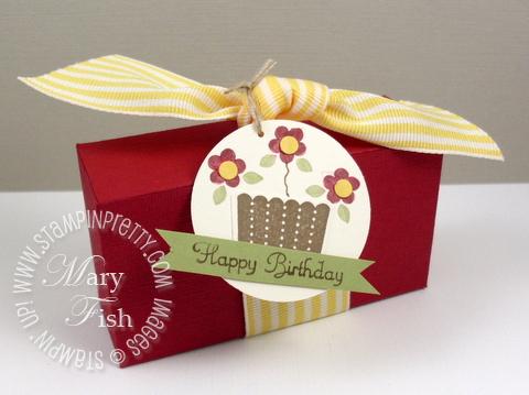 Stampin up cupcake big shot box