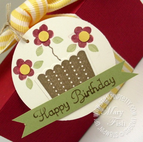 Stampin up cupcake happy birthday