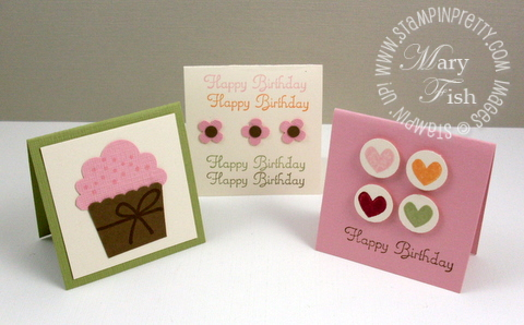 Stampin up cupcake punch trio