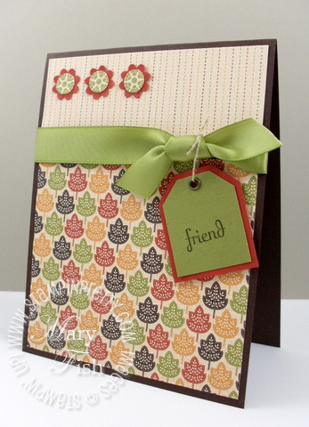 Stampin up autumn spice designer series card 1